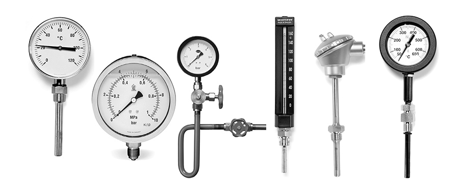 Heat Measuring Instruments : Rexotherm measuring instruments for pressure and temperature